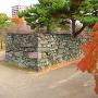 モミジと黒門跡枡形石垣(2)