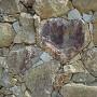 天守台石垣にあるハート型の石[提供:岡山県観光連盟]
