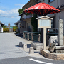 坂本城址 石碑(二の丸跡)