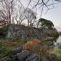 本丸石垣と堀
