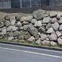 三の丸北端の石垣