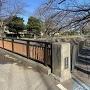 冬の屋倉橋と善福寺川