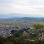 八幡山城から望む三上山(近江富士)