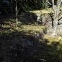 本丸搦手門近くの櫓跡