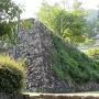 二の丸の石垣と本丸の西隅櫓