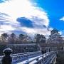 極楽橋と大坂城天守閣