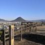 丸亀城 月見櫓跡と讃岐富士
