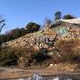 丸亀城 崩落した石垣
