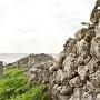 荒々しい城壁
