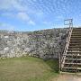 城壁に上がる階段