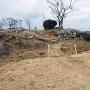 黒井城 二の丸と本丸の間の空堀