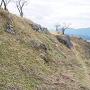 黒井城 南側斜面の石垣