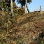 枡形門跡の土塁2