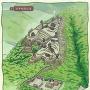 井平城復元図[提供:いだいら観音の里]