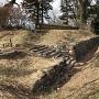 発掘された本丸西櫓台
