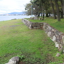 石垣(琵琶湖に面している)