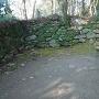 大手門跡を進んだ先にある虎口の石垣