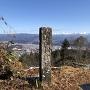 城址碑と眺望
