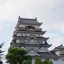 福山城斜め横