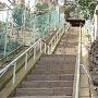 城址碑と静勝寺への石段