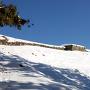 冬の南側横矢の石垣[提供:東峰村教育委員会]