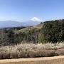 岱崎出丸より、一ノ堀と富士山