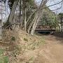 本祇園曲輪東側の堀切