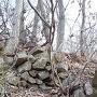 わずかに残る石積