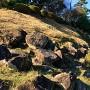 本丸跡北側の石垣積石