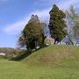 豊福城 堀から見た本丸