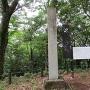 城址碑と案内板(山頂)