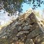 二の丸西側の石垣