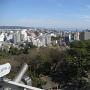 小田原城より相模湾方面を望む