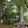 本丸の城址碑