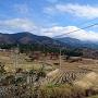 城趾付近から眺める木曽の山並み