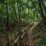 小沢峰と富士塚の間の堀切