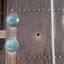 鯱の門に残る弾痕の跡