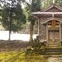 家臣屋敷跡の脇にある鳥坂神社