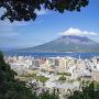 猛暑の桜島、雲の帽子をかぶって