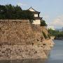 屏風折れの石垣と、六番櫓