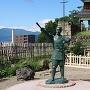 西櫓と真田幸村像