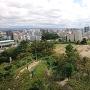 浜松城 天守よりの眺望(二の丸跡方面)