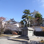 大垣城① お城と戸田氏鉄公像