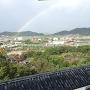 彦根城③ 本丸天守からの虹