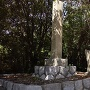 石碑と説明看板