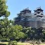 加藤神社からの天守(2020年9月)