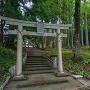 主郭手前の城山神社