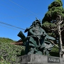毛利元就公銅像