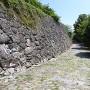 石垣(城代屋敷跡から天守閣方面への道中)