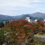 天守からの眺め(月岡神社側)